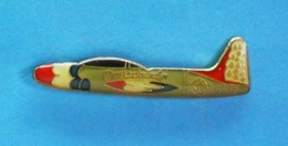1 PIN'S //   ** AVION / LOCKHEED P-80 SHOOTING STAR / USAF / THUNDERBIRDS ** - Airplanes