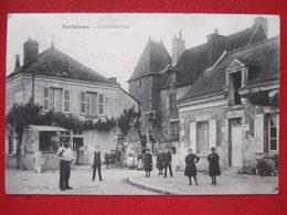 """41 - OUCHAMPS - LA GRANDE COUR - CAFE... """" BELLE CARTE """" - - Frankreich"""