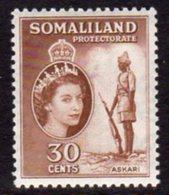 British Somaliland 1953-8 30c Scouts Sentry Value, MNH, SG 141 (BA) - Somaliland (Protectorate ...-1959)
