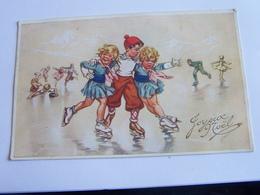 Bouret Germaine  Patineurs  Enfants No 19 Edit D Art E Sepheriades Paris - Bouret, Germaine