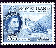 British Somaliland 1953-8 35c Stock Dove Bird Value, Hinged Mint, SG 142 (BA) - Somaliland (Protectorate ...-1959)