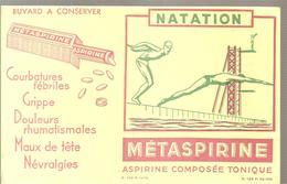 Buvard METASPIRINE Aspirine Composée Tonique Collection SPORT NATATION - Chemist's
