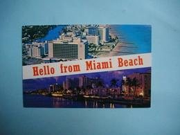MIAMI BEACH  -  Top View  -  Hotels Along The Atlantic  -   Floride  -  Etats Unis - Miami Beach