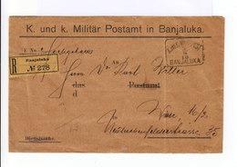 Enveloppe Poste Militaire. Postamt In Banjakula. Recommandé. 7 Timbres Oblitérés Avec Millésime 1830 1910. (669) - Bosnie-Herzegovine