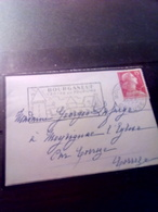 Jolie Mignonette Aff Muller Flamme BOURGANEUF Creuse 1956 - Marcophilie (Lettres)