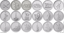 Russia, 2014-2015 II World War Victory, 18 Coins X 5 Rbl Rubels - Russia