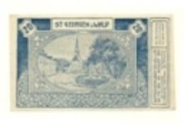 1921 - Austria - St. Georgen Am Wald Notgeld N66, - Austria