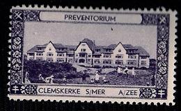 BELGIQUE - VIGNETTE - CLEMSKERKE-SUR-MER - PREVENTORIUM. - Vignettes D'affranchissement