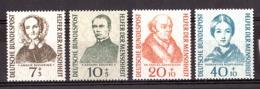 Allemagne - 1955 - N° 98 à 101 - Neufs ** - Bienfaiteurs De L'Humanité - Ongebruikt