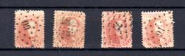 1863, Belgique, Léopold 1er, 4 X  16 A  Ob, Cote 120 €, - Belgique