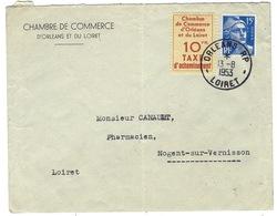 Timbre De Grève émis Par La Chambre De Commerce Le 13 / 8 / 53 Oblitération Postale - Grève