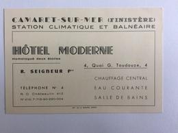 HÔTEL MODERNE - R.Seigneur, Propriétaire - CAMARET-SUR-MER Station Climatique Et Balnéaire - Visiting Cards