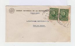 Sur Enveloppe Paire De Timbres République D'Haïti 5 C. Verts. CAD Haïti 1936. (673) - Haïti