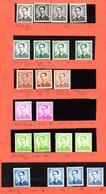 1953-58, Belgique,étude Baudouin, Cote 13,40 €   Type Marchand, Nuances, Papiers, Entre 924 ** Et 1068** - Neufs