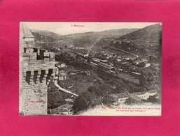 09 Ariège, Foix, En Haut De La Tour, Vue De La Gare, 1935, (Labouche) - Foix