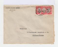 Sur Enveloppe Timbre Tricentenaire Du Rattachement Des Antilles Françaises. 10 C Rose Et Sépia. 1936. (674) - Haïti