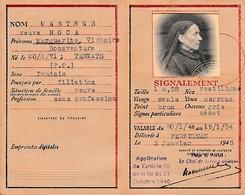 """WW2 1945 - CARTE D'IDENTITÉ DE FRANÇAIS Avec Mention """"Application De La Loi Du 27 Octobre 1940"""" Loi Contrôle Des Juifs - - Documentos Históricos"""