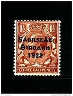 IRELAND/EIRE - 1922  1 1/2 D. FREE STATE  MINT NH  SG 54 - 1922-37 Stato Libero D'Irlanda