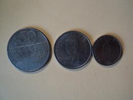 PARAGUAY. LOT DE 3 PIECES DE 1986. 1 / 10 ET 50 GUARANIES. ACIER SOLDAT PARAGUAYEN / GENERAL GARAY / MARECHAL JF ESTIGA - Paraguay