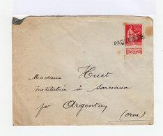 Sur Enveloppe 50 C. Rose Rouge Avec Bande Publicitaire. Oblitération Paquebot. CAD Douala Cameroun 1933. (676) - Cameroun (1915-1959)