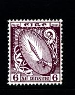 IRELAND/EIRE - 1923  6d.  SWORD  SE WMK  MINT NH SG 79 - 1922-37 Stato Libero D'Irlanda