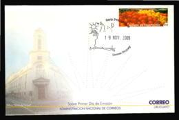 FRUITS LEMON TOMATOE VEGETABLES CUCUMBER URUGUAY EXPORTATIONS 2009 FDC COVER - Landwirtschaft