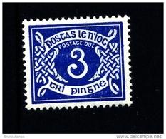 IRELAND/EIRE - 1952  POSTAGE DUE  3d. E WMK  MINT NH SG D9 - Segnatasse