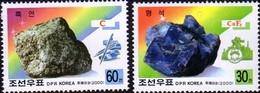 2000 North Korea Stamps Mineral Graphite And Fluorite 2v - Korea, North