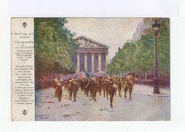 Carte American Red Cross. Cachet US Army 1919. Défilé 14 Juillet 1914 Paris. (677) - Cartes Souvenir