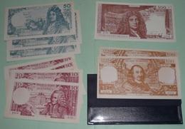 Rare Pochette De Billets De Banque Factices 1960's, France ASCO école Scolaire, 500 100 50 10 Francs Fr - Fictifs & Spécimens