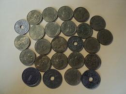 LOT DE 25 PIECES DIFFERENTES DE 5 CENTIMES. 1919 / 1998 - C. 5 Centimes