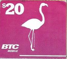 BAHAMAS : BTC Recharge BTC White Logo ( NO Text Airtime Card)   $20 FLAMINGO  Exp : 30/SEP/2019 - Bahamas