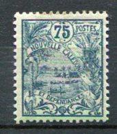 NOUVELLE-CALEDONIE -  Yv. N°  123   *   75c  Bleu S Azuré  Cote  1 Euro  BE  2 Scans - New Caledonia