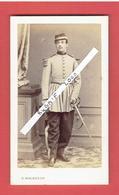 PHOTOGRAPHIE VERS 1870 CDV OFFICIER PHOTOGRAPHE G. MALARDOT 7 PLACE DE CHAMBRE MAISON DU TELEGRAPHE A METZ - War, Military