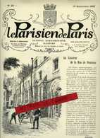 La Parisien De Paris Journal Hebdomadaire Illustré No 36 Du 12 Septembre 1897- La Caserne Pontoise Des Pompiers - Journaux - Quotidiens