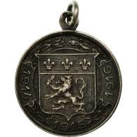 France, Oeuvres De Guerre, Lyon, Médaille, 1914-1915-1916, Excellent Quality - Army & War