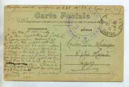 72 LE MANS écrite Aout 1917  Convoyeur 11em RAP  CACHET COMMISSION MILITAIRE De GARE     /D04-2015 - Le Mans