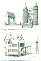 Aalst : Zes Kaarten (niet Verstuurd) Van De Zes Aalsterse Poorten Getekend Door Van Eenoo - Aalst