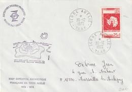 TAAF N° 39sur Enveloppe De La XXIII Expedition Antarctique Francaise 1972 1974 - Französische Süd- Und Antarktisgebiete (TAAF)