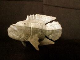 Sculpture POISSON Perche (?) Fish Fishing Fisch Fischerei Peche Déco Bois Decoration ! - Wood