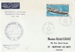 TAAF N° 29 PA Sur Enveloppe Expéditions Polaires Francaises Mission Paul Emile Victor - Französische Süd- Und Antarktisgebiete (TAAF)