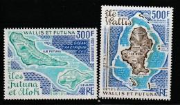 WALLIS Et FUTUNA - PA N°80/1 ** (1978)  Cartes Des îles - Airmail