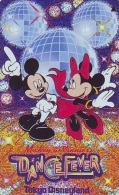 Télécarte Métal ARGENT Japon * 110-197020 * DISNEY Disneyland (4737)  Danse MICKEY MINNIE * Japan SILVER Phonecard - Disney
