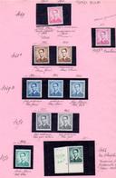 1958-66, Belgique,étude Baudoin, Cote 10€ ++ Type Marchand, Nuances, Papiers, 1068A** Et 1371 ** - Neufs