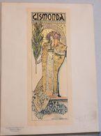PLANCIA  PLANCHE  GISMONDA    ALPHONSE MUCHA  Les Maitres De L'Affiche  PL 27 - Kaufmanns- Und Zigarettenbilder