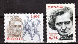 Monaco 2400 2401 Berlioz Et Khatchaturian TB ** MNH SIN CHARNELA Faciale 2.35 - Monaco