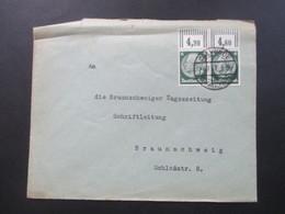 3.Reich 1937 Hindeburg Nr. 516 Waagerechtes Paar Oberrand Walze Gestempel Calvörde - Deutschland