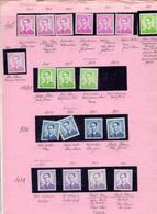 1953-58 Belgique, étude Baudoin, Type Marchand, Nuances, Papiers, Entre 926** Et 1067 **, Cote 21 €, - Neufs