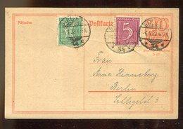Deutsches Reich / 1922 / Postkarte Mit Zusatzfrankatur Ortsverkehr Berlin, Inflation ! (17348) - Allemagne