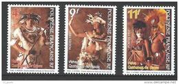 """Polynésie YT 533 à 535 """" Costumes De Danse """" 1997 Neuf** - Polynésie Française"""